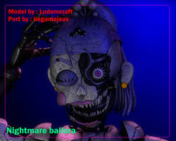 Nightmare ballora (C4D RELEASE) by kegamejeux