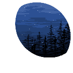 F2U Crescent Moon Pixel Forest by CynicArcane