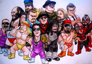 WWE Characters 80s, 90s by VinceArt