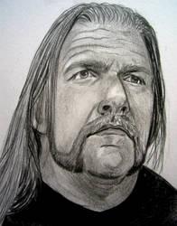 WWE Triple H H H by VinceArt
