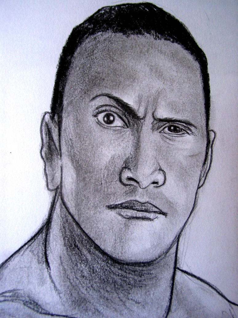 Uncategorized Wwe Drawing Pictures wwe the rock by vinceart on deviantart vinceart