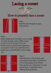 How to lace a corset