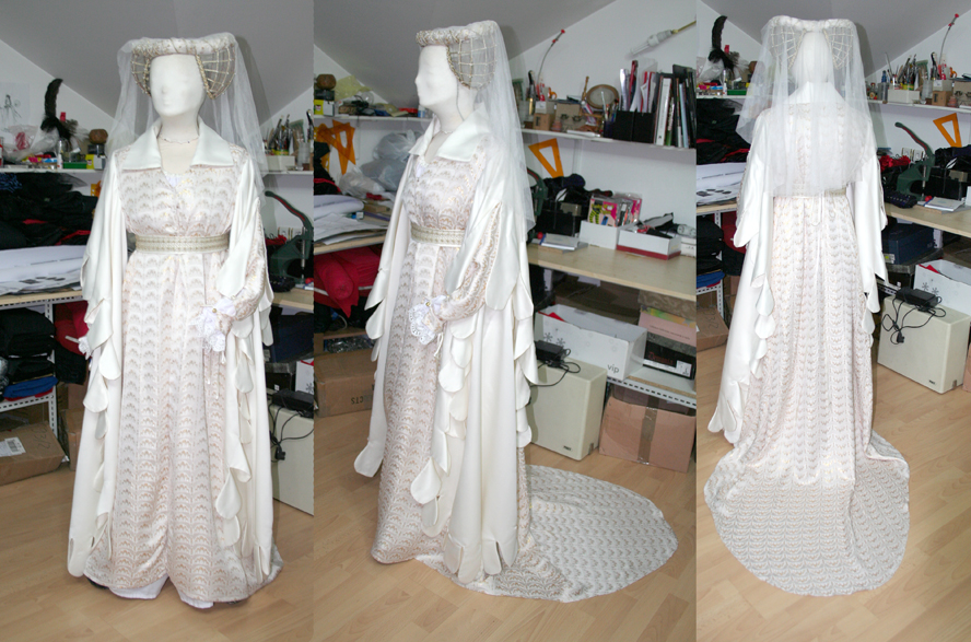 White renaissance gown by azdaja on DeviantArt