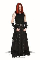Skirt with studs - men fashion