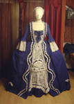 Robe a la francaise in blue 1
