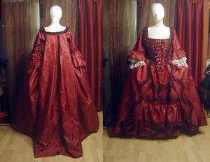 Robe a la franciase in red