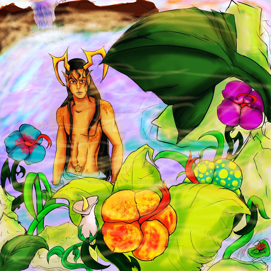El in his hotsprings by Professorfartsparkle