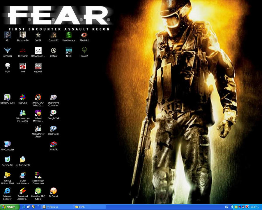 My F.E.A.R. Desktop by thefreewolf