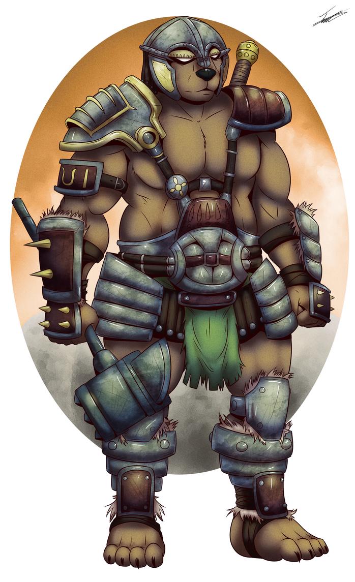 Alaric The Barbarian by paladin095