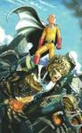 One Punch Man Artwork Saitama Genos