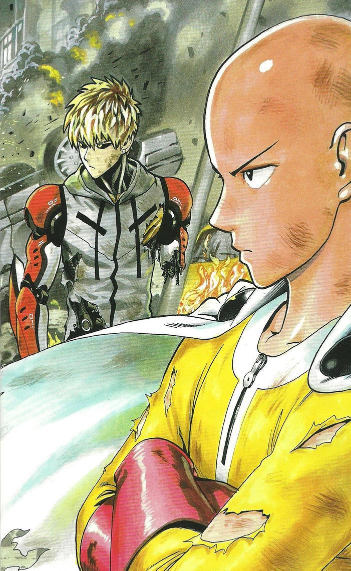One Punch Man Artwork Saitama Genos by corphish2 on DeviantArt