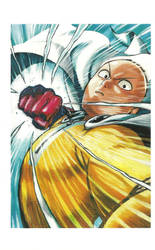 One Punch Man Artwork Saitama by corphish2