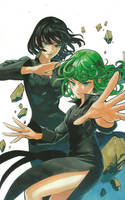 One Punch Man Artwork Tatsumaki Jigoku no Fubuki by corphish2