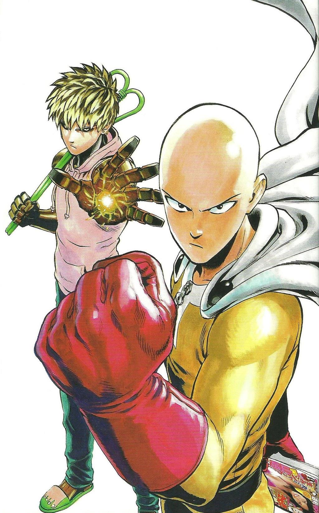 One Punch Man Saitama - One Punch Man Artwork Saitama Genos by corphish2 on DeviantArt