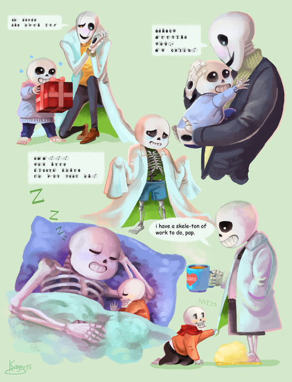 Undertale: Skeleton Family by PhantomReturn