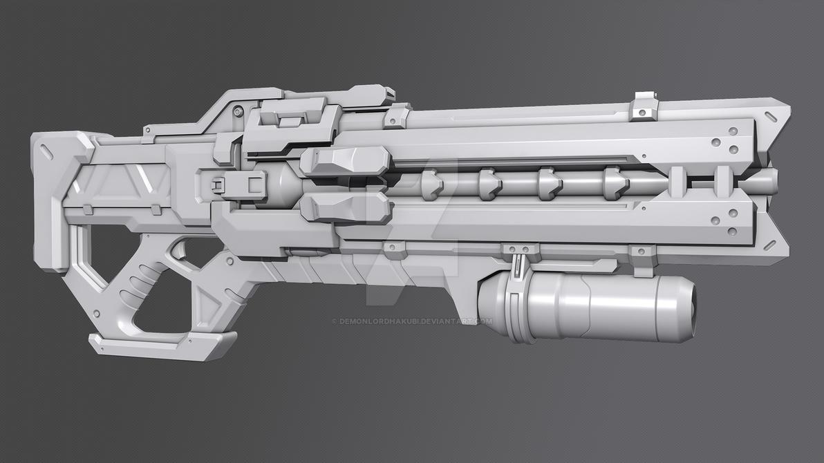 Soldier 76's Weapon [Fan art] by DemonLordHakubi on DeviantArt