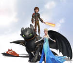 The Dragon Rider and The Snow Queen