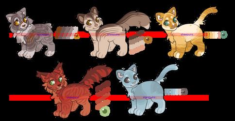 $6 Warriors Cat Designs [3/5 OPEN]