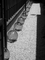 Glass floats by BunnyUsagi