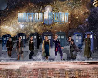 7 Doctors Daleks by mjarts