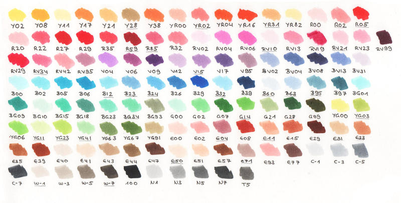 Copic Color Charts + Why They're Useful! (Featuring HEX ...