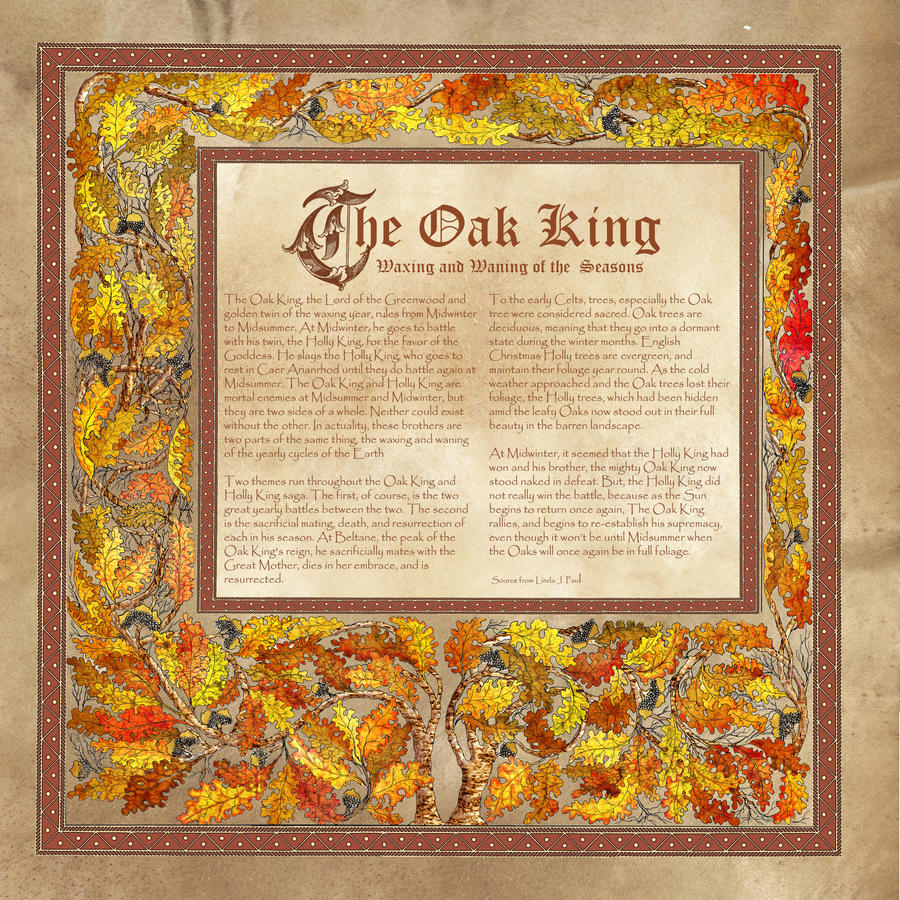Oak King, Book of Shadows