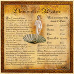 Book of Shadows, The Element of Water, Page 1