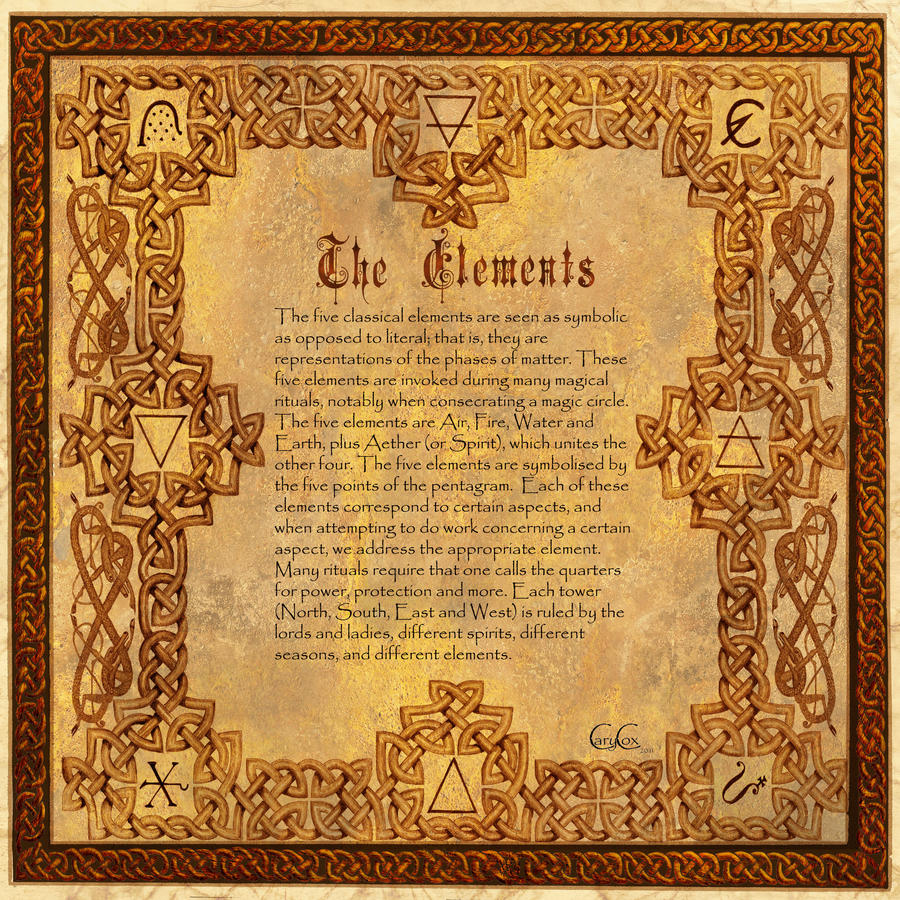 Book of Shadows, The Classic 4 Elements, divPag
