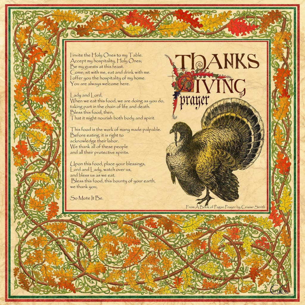 Book of Shadows Harvast Home-Thanksgiving Prayer