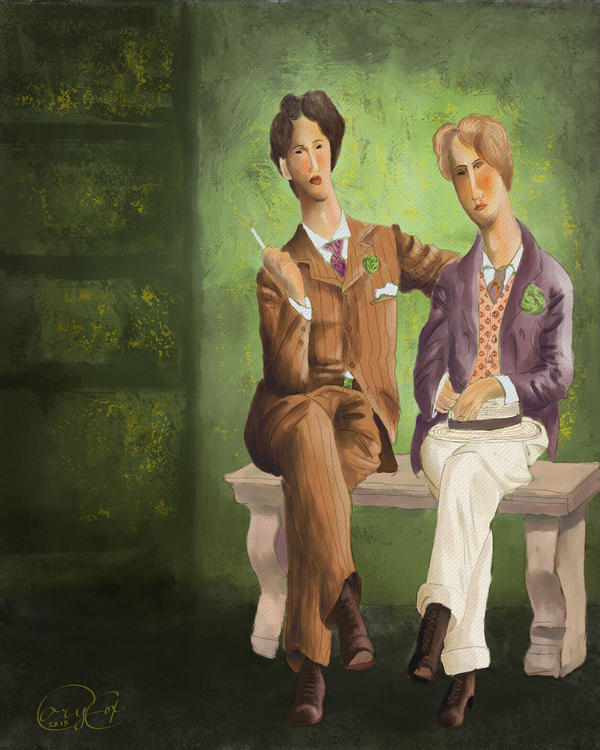 Oscar Wilde and Lord Alfred Douglas by Brightstone