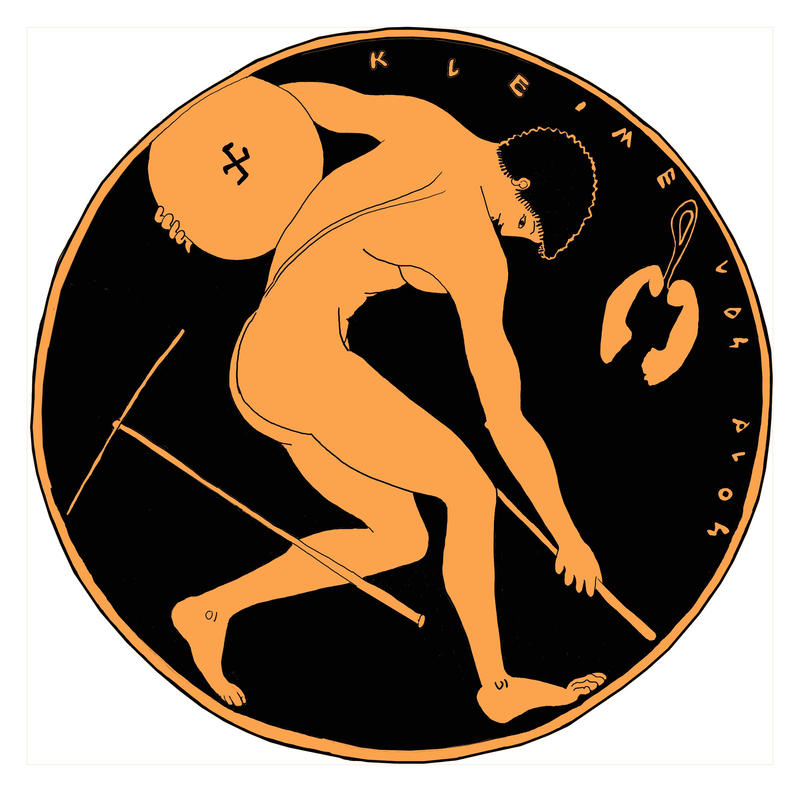 Red-figure cup, Athlete by Brightstone