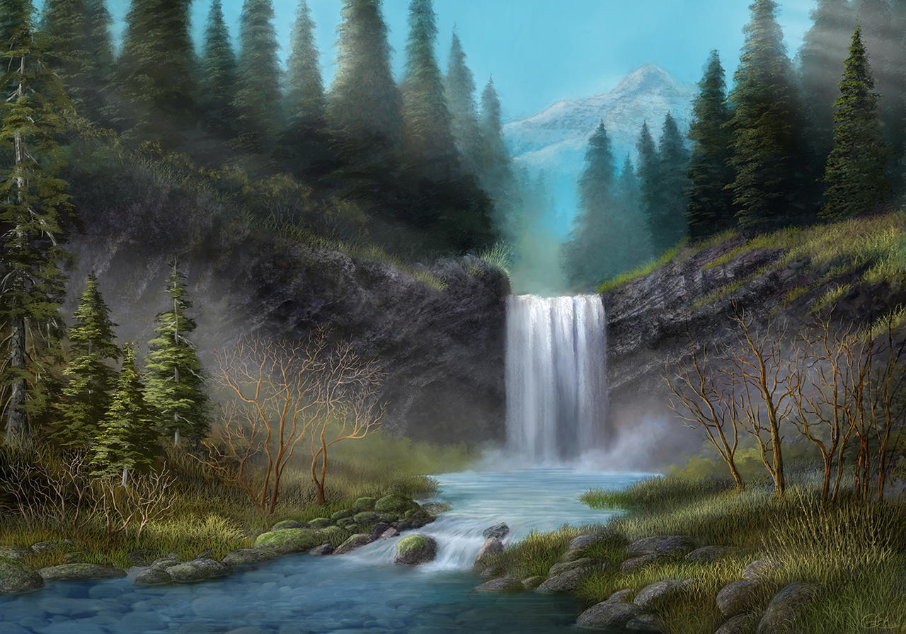 Water Fall, Mt Hood
