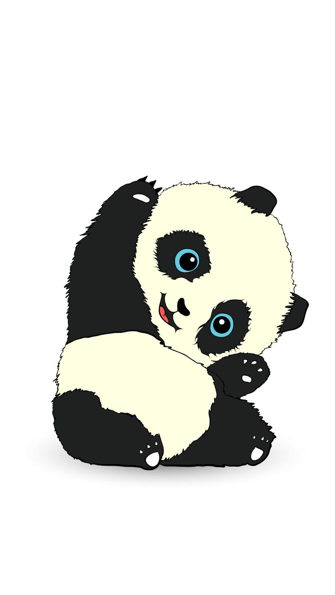 cute panda painting wallpaper - photo #21