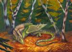 Autumn dragon by Aisha-Autumn