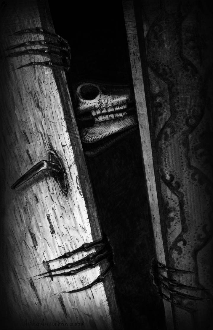 Something behind the door by Aisha-Autumn