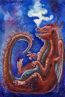 ACEO dragon Jimmerick by Aisha-Autumn