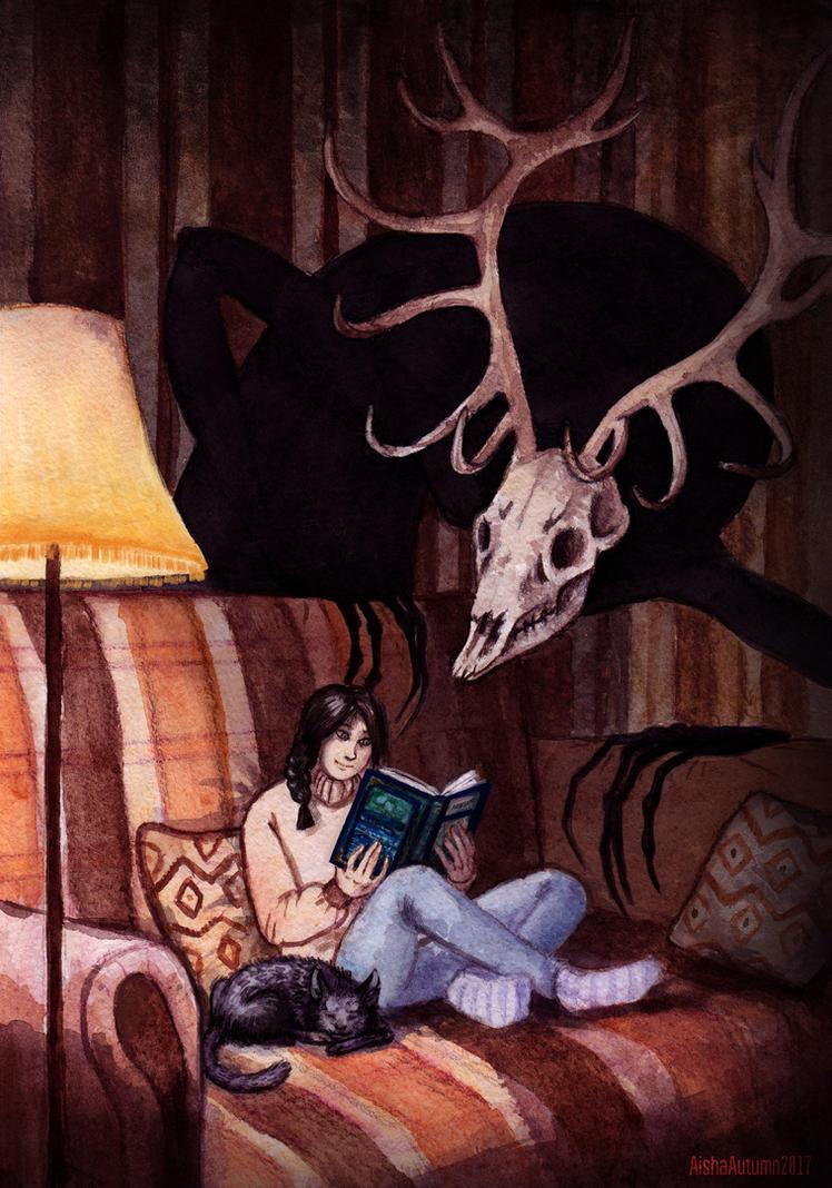 Home reading by Aisha-Autumn