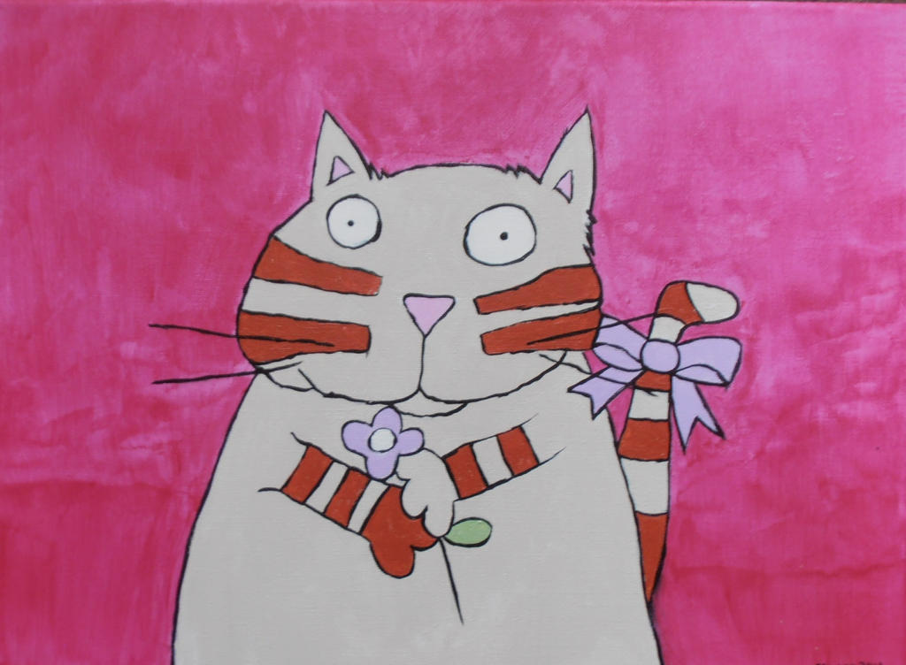 Cartoon Cat by StarkindlerArt