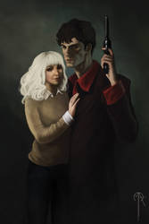 Dylan Dog commission by BastonXD