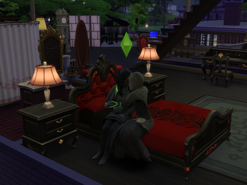 Sims 4 Reaper making out by Gauntlet101010