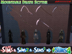 Sims4 Wall Mounted Death Scythe Conversion