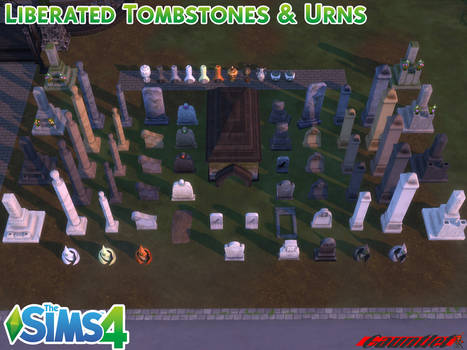 Sims4  Liberated Tombstones and Urns