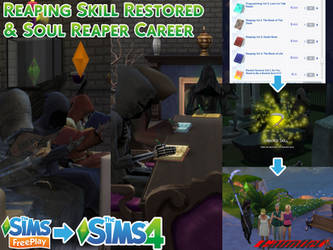 Sims4 Reaping Skill + Soul Reaper Career by Gauntlet101010
