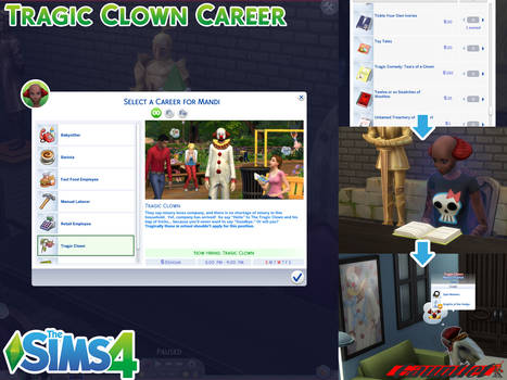 Sims4 Tragic Clown Career