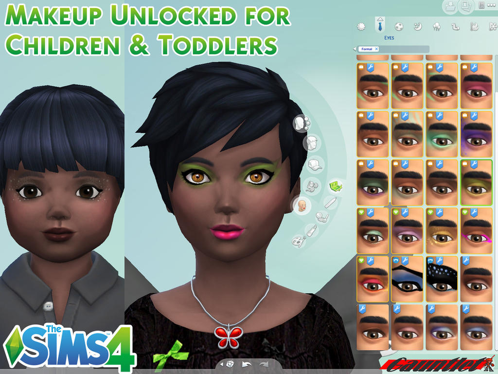 Sims4 Makeup Unlocked for Kids by Gauntlet101010 on DeviantArt