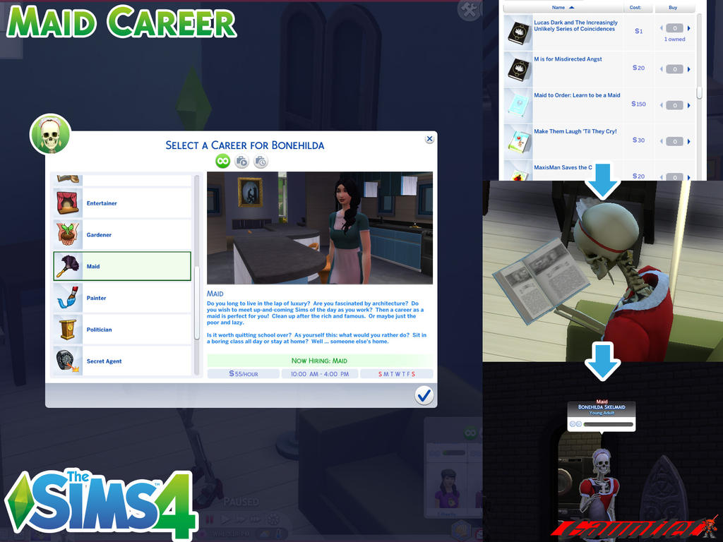 Sims4 Maid Career by Gauntlet101010 on DeviantArt