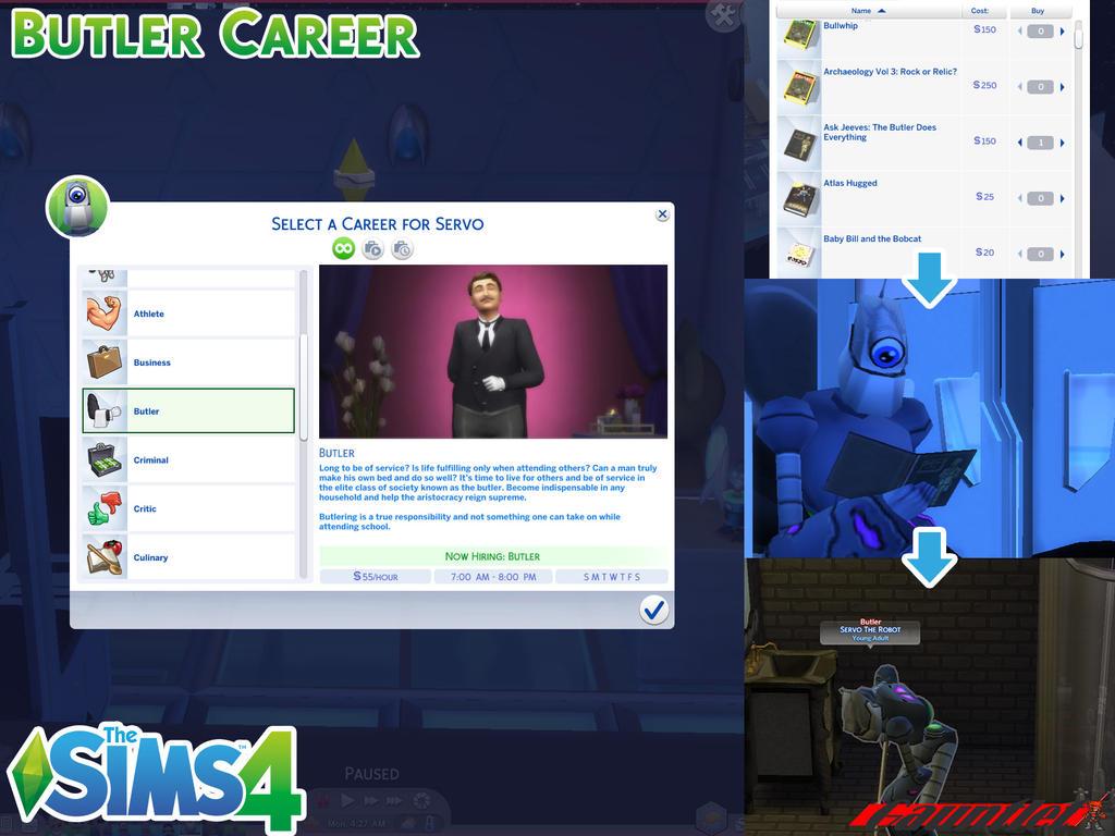 Sims4 Butler Career by Gauntlet101010 on DeviantArt