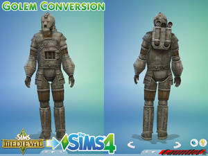 Sims Medieval to Sims4 Golem Conversion