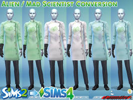 Sims2 to Sims4 Alien / Mad Scientist Conversion