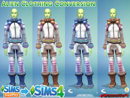 Sims Freeplay to Sims4 Alien Clothing Conversion